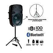 Amplificador Profesional 100wrms Tripode + Micrófono