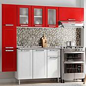 Cocina Integral Multipla 2.10 Metros Roja
