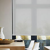 Enrollable Solar Screen 10 Gris A La Medida Ancho Entre 120.5-130  cm Alto Entre  30-100 cm