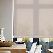 Enrollable Solar Screen 10 Crema A La Medida Ancho Entre 120.5-130  cm Alto Entre  100.5-135 cm