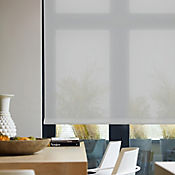 Enrollable Solar Screen 5 Gris A La Medida Ancho Entre 60-100  cm Alto Entre  150.5-165 cm