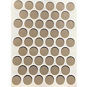 Paq x 50 Unds Tapatornillos Adhesivos de 14 mm Gris Cálido