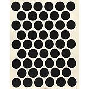 Paq x 50 Unds Tapatornillos Adhesivos de 14 mm Negro