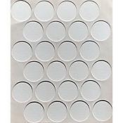 Paq x 24 Unds Tapatornillos Adhesivos de 20 mm Blanco