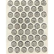 Caja x 2500 Tapatornillos Adhesivos de 14 mm Rubik