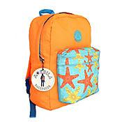 Maletín Naranja con Bolsillo Estampado Estrella de Mar Ref. 7039