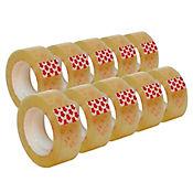 10 Rollos Cinta Ancha Adhesiva Transpa 300mtc/U