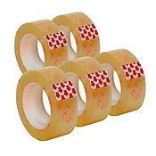 5 Rollos Cinta Ancha Adhesiva Transpa 200mt C/U