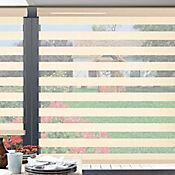 Sheer Elegance Creppe Beige A La Medida Ancho Entre 190.5-210  cm Alto Entre  135.5-150 cm