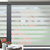 Sheer Elegance Trendy Gris Shadow A La Medida Ancho Entre 260.5-280  cm Alto Entre  60-105 cm