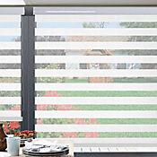Sheer Elegance Creppe Blanco A La Medida Ancho Entre 210.5-230  cm Alto Entre  280.5-300 cm