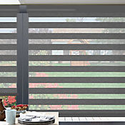 Sheer Elegance Trendy Gris Granite A La Medida Ancho Entre 150.5-170  cm Alto Entre  135.5-150 cm