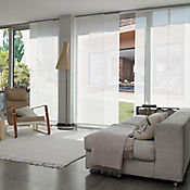 Cortina Panel Oriental Solar Screen 10 Blanco A La Medida Ancho Entre 470.5-490  cm Alto Entre  100.5-120 cm
