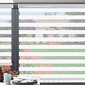Sheer Elegance Style Blanco A La Medida Ancho Entre 130.5-150  cm Alto Entre  105.5-120 cm