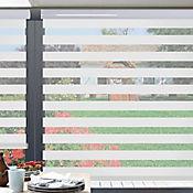 Sheer Elegance Misty Blanco A La Medida Ancho Entre 150.5-170  cm Alto Entre  105.5-120 cm