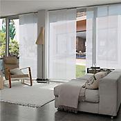 Cortina Panel Oriental Biaggio Blanco A La Medida Ancho Entre 360.5-370  cm Alto Entre  80-100 cm