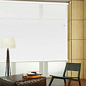 Persiana Horizontal De Aluminio 50 mm Color Blanco Mt A La Medida Ancho Entre 120.5-130  cm Alto Entre  260.5-280 cm