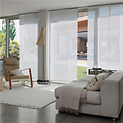 Cortina Panel Oriental Biaggio Blanco A La Medida Ancho Entre 300.5-320  cm Alto Entre  260.5-280 cm