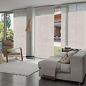 Cortina Panel Oriental Solar Screen 5 Beige A La Medida Ancho Entre 100.5-120  cm Alto Entre  140.5-160 cm