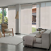 Cortina Panel Oriental Solar Screen 5 Beige A La Medida Ancho Entre 160.5-180  cm Alto Entre  180.5-200 cm
