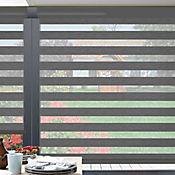 Sheer Elegance Trendy Gris Granite A La Medida Ancho Entre 130.5-150  cm Alto Entre  60-105 cm