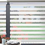 Sheer Elegance Dark Blanco A La Medida Ancho Entre 210.5-230  cm Alto Entre  120.5-135 cm