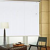 Persiana Horizontal De Aluminio 25  mm Color Blanco Gl A La Medida Ancho Entre 130.5-140  cm Alto Entre  280.5-300 cm