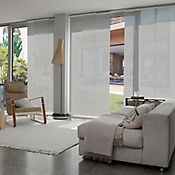 Cortina Panel Oriental Solar Screen 10 Gris A La Medida Ancho Entre 300.5-320  cm Alto Entre  140.5-160 cm