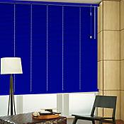 Persiana Horizontal De Aluminio 25  mm Color Azul Impe A La Medida Ancho Entre 255.5-280  cm Alto Entre  30-100 cm