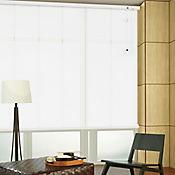 Persiana Horizontal De Aluminio 25  mm Perforado Color Blanco A La Medida Ancho Entre 195.5-215  cm Alto Entre  30-100 cm