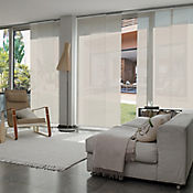 Cortina Panel Oriental Solar Screen 10 Beige A La Medida Ancho Entre 200.5-220  cm Alto Entre  340.5-360 cm