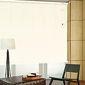 Persiana Horizontal De Aluminio 25  mm Color Algodón A La Medida Ancho Entre 30-100  cm Alto Entre  280.5-300 cm
