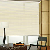 Persiana Horizontal De Aluminio 50 mm Color Algodón A La Medida Ancho Entre 110.5-120  cm Alto Entre  220.5-240 cm