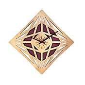 Reloj de Pared 011 34x34 cm Madera Carvalho - Vinotinto