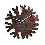 Reloj de Pared 007 34x34 cm Madera Garnica - Rojo