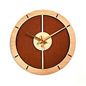 Reloj de Pared 009 34x34 cm Madera Carvalho - Naranja