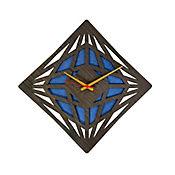 Reloj de Pared 012 34x34 cm Madera Garnica - Azul
