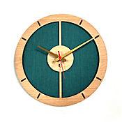 Reloj de Pared 009 34x34 cm Madera Carvalho - Verde