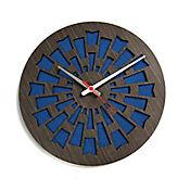 Reloj de Pared 003 34x34 cm Madera Garnica - Azul