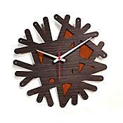 Reloj de Pared 007 34x34 cm Madera Garnica - Naranja