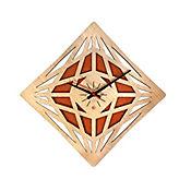 Reloj de Pared 011 34x34 cm Madera Carvalho - Naranja