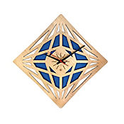 Reloj de Pared 011 34x34 cm Madera Carvalho - Azul