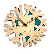Reloj de Pared 006 34x34 cm Madera Carvalho - Verde