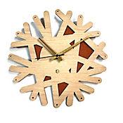 Reloj de Pared 006 34x34 cm Madera Carvalho - Naranja