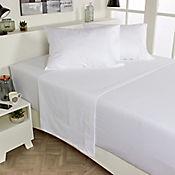 Juego de Sábanas 300 Hilos Rica Algodón Hotel Sencillo