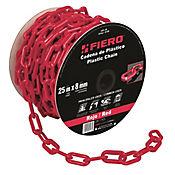 Cadena Plastica de 8mm Rojo 25m