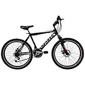 Bicicleta R26 18Vel F Disco + Suspensión Negro