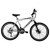 Bicicleta R26 18Vel F Disco + Suspensión Blanco