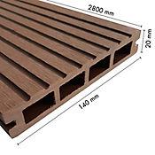 Piso Deck WPC en Madera Espesor 2.5cm Caja 39.2m2 Nogal