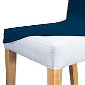 Forro x 2 Elástico para Silla Comedor 66x48x46 Azul